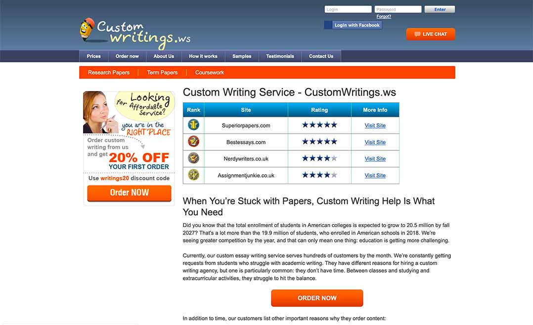 CustomWritings.ws Review