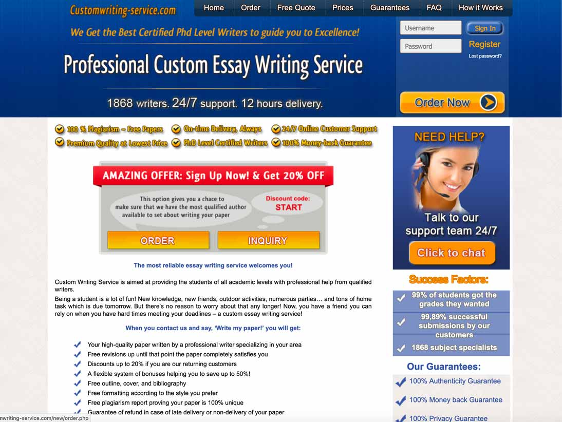 CustomWriting-Service.com Review